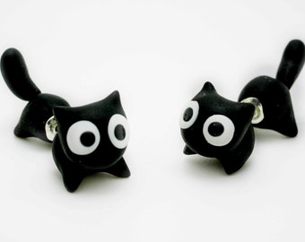 Black Cat Earring Stud
