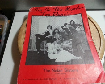 The Nolan sisters, Im in the mood for dancing, vintage music sheet,