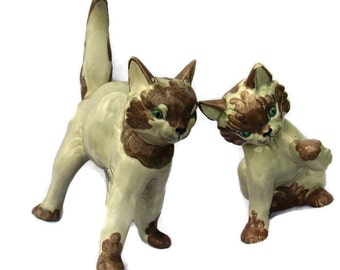 Kay Finch California Pair of Ceramic Kittens  -
