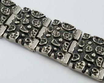 Vintage Robert Larin Modernist Abstract Bracelet Silver-Plated