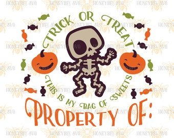 Silly Skeleton Candy Bag svg Halloween svg Halloween decor svg Treat Bag svg Trick Or Treat svg Silhouette svg Cricut svg eps dxf Fall svg
