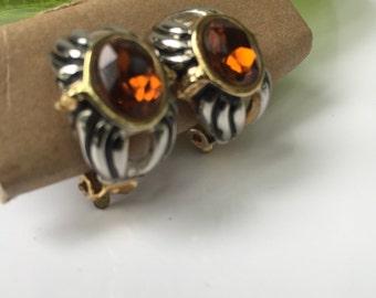 Vintage earrings Gold Plate