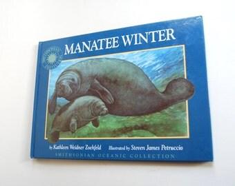 Vintage Children's Book, Manatee Winter