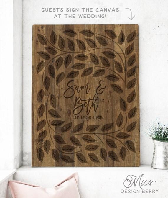 Tree Wedding Guest Book - Wedding Tree Sign In Alternative - Wedding Signature Tree - Wedding Tree CANVAS