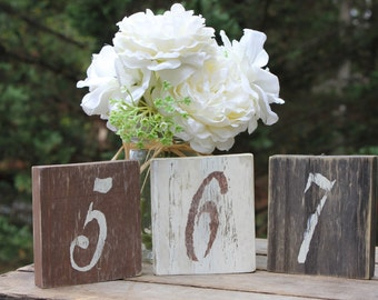 Rustic  Wood Table Numbers Set of 12 , Shabby Chic, Wedding table numbers, Rustic Wedding Decor, Country Wedding Decor, Wood Table Numbers