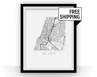 Tel Aviv Map Print