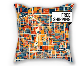 Beijing Map Pillow - China Map Pillow 18x18