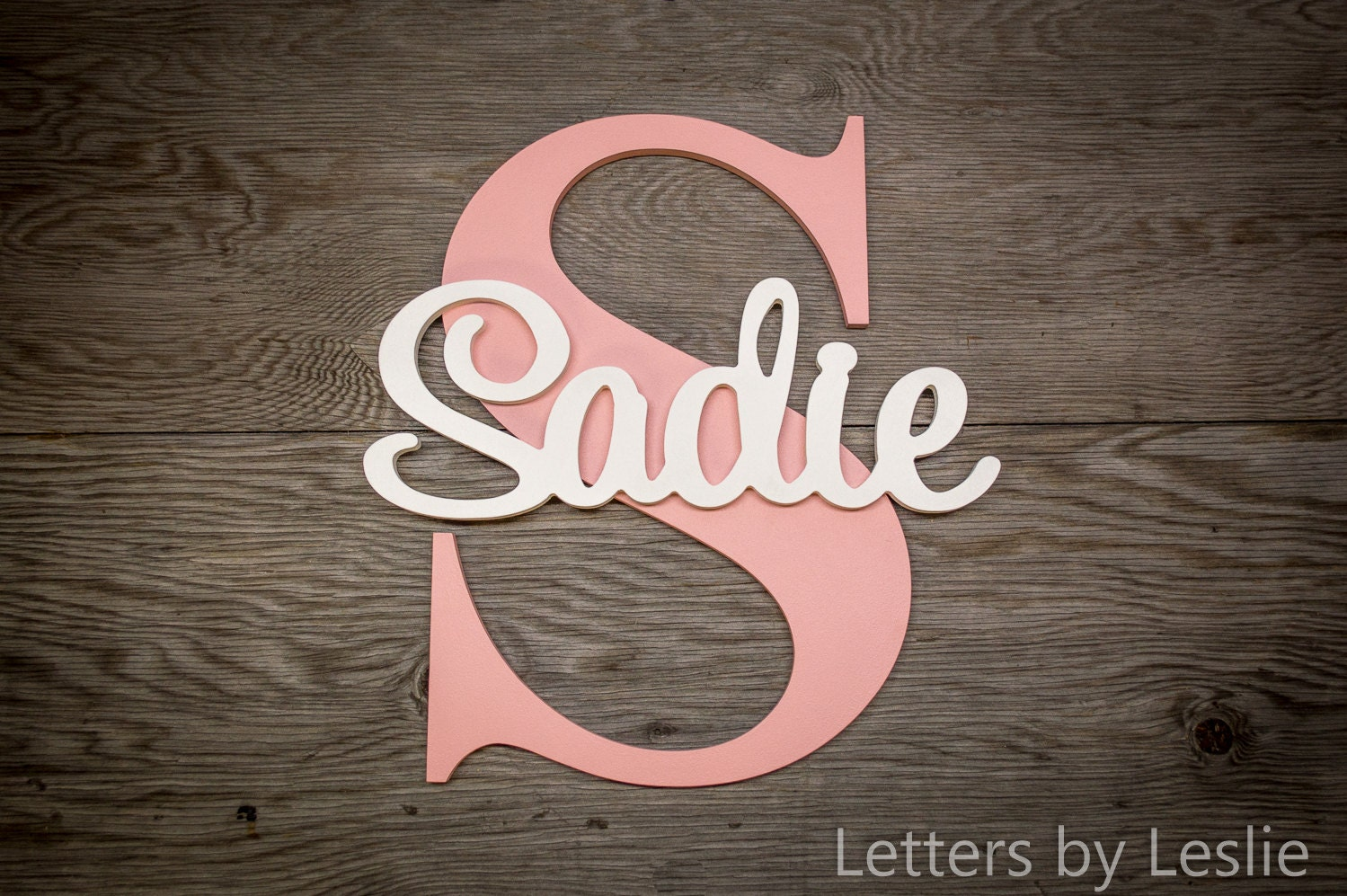 Name Wall Letters Large  Nursery Name Sign Capital Letter Baby Name Plaque