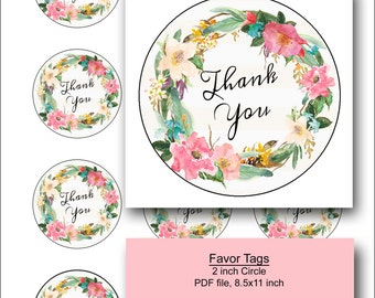 favor tag/favor tags/favour tag/favour tags/baby shower favors/thank you tag/bridal shower favors/floral/printable/party favor tags-Jesselyn