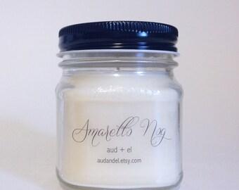 Amaretto Nog Candle, 8 oz  Long burn Candle. Soy Candle.