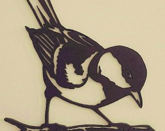 Wooden cut bird