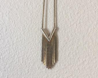 vintage fringe necklace