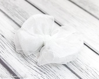 White Organza Layered Boutique Bow