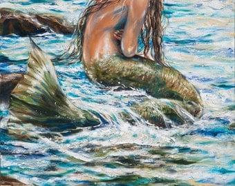 Mermaid in Tidepool