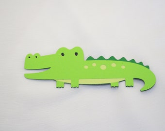Scrapbook Embellishments, Alligator Die Cut - Set of 4