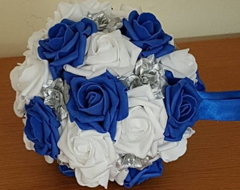 "7 "" Wedding Pomanders, Wedding Flower Balls, Flower Girl Kissing Ball,  Bouquet Alternative"