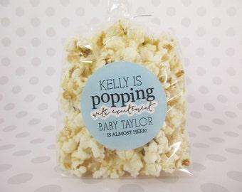 Baby Boy Baby Shower Favor Sticker, Baby Shower Favor, Baby Shower, Baby Shower Favor Bag Sticker, Baby Shower Popcorn Bag