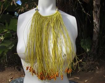 Bohemian Hippie Fringe Multi Strand Choker Bib Necklace Festival Fun
