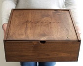 Large Keepsake Box - Wooden Box - Wedding Card Box - Personalized Gift -Baby Keepsake Box - Corporate Favor - Personalized Gift-Gift for Mom