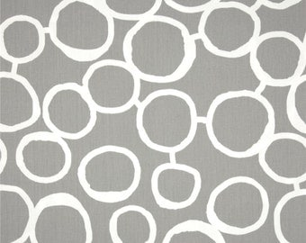 Free Hand Storm Twill Premier Prints Fabric - One Yard - Gray / Grey and White Home Dec Fabric