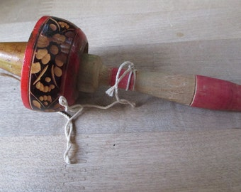 Vintage 1950's wooden toy - Catch  the Sombrero - Estate find!