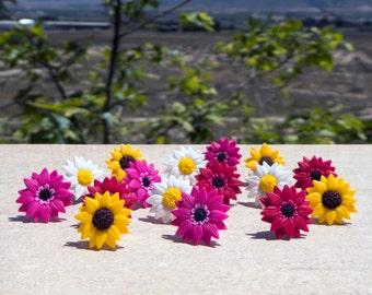 Pendientes de Gerberas, Margaritas gigantes, Flores