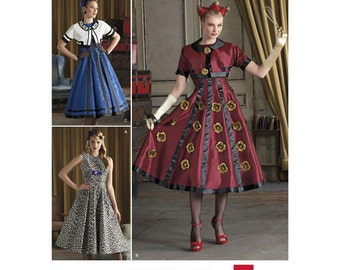 Simplicity 8187, Misses Costume Sewing Pattern, Retro vibe, Size 6-14, New Uncut