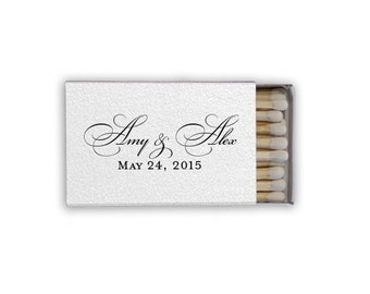 Personalized Wedding + Event Matches | Wedding Favors {lots of foil color options!}