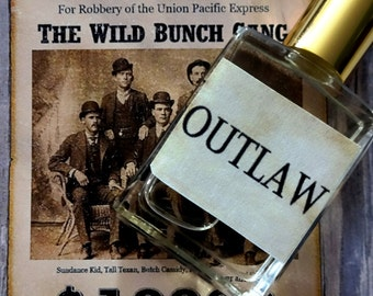 Outlaw Cologne Oil 1/2 oz. - Wild West Cologne, Masculine Cologne, Woodsy Cologne, Outdoorsman Cologne, Forest Cologne