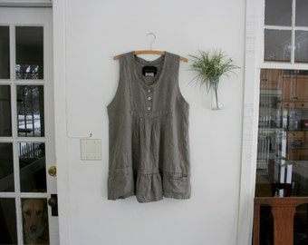 """Linen Clothing / """"Artists"""" Linen Tunic / by Breathe Clothing"""