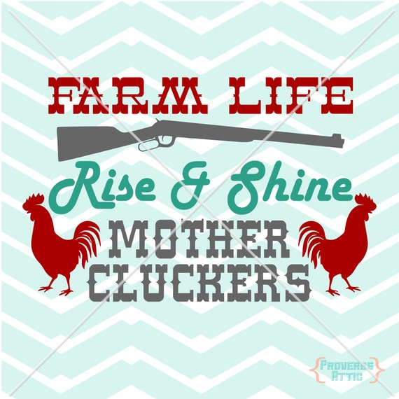 Farm Life Mother Cluckers Western Country Vinyl Decal Screen