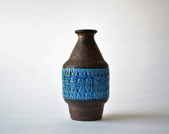Bitossi Italy - vase - Rimini Blu Trifoglio - Italian midcentury pottery
