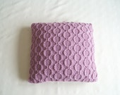 Knitted Cushion Cover, Hand Knit Pillow Cover, Throw Pillow, Rose Pink  - KEMBLE