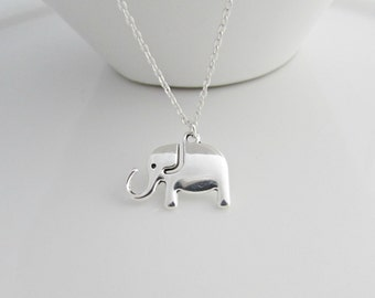 Elephant Necklace, Silver Elephant Necklace, UK Seller, Lucky Elephant Necklace,  Bridesmaid Gifts, BFF, Elephant Jewelry, Jewelry for Girls