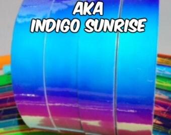 """1"""" Indigo Sunrise Metallic Hula Hoop Tape"""