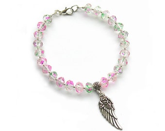 Angel Winged Rose Bracelet