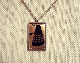 Gold Dalek Doctor Who Pendant