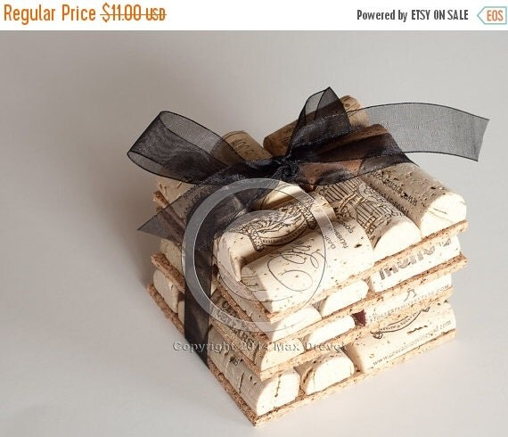 Cork Crafts For Weddings: SALE Wine Cork Coasters Set Of 4 Wine Cork By