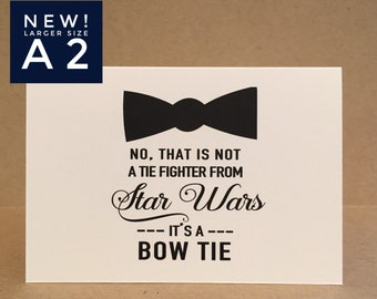 Will You Be My Groomsman Card Best Man Card Groomsmen Cards { Star Wars Wedding } Bowtie Tie Star Wars inspired A2 Size