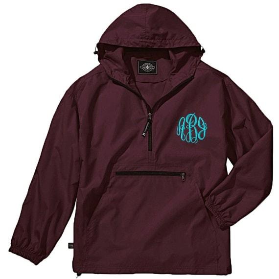 Personalized Pack N Go Windbreaker Rain Jacket Monogrammed