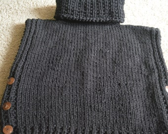 Cowl Neck Pullover Tunic Size Eleven/Thirteen Acrylic