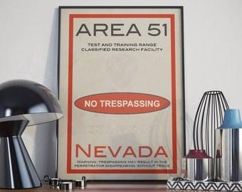 Area 51. High Quality Print.
