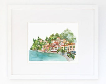 Lake Como - Watercolor Art Print