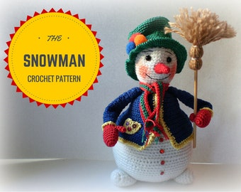The Snowman – Crochet Pattern by ToyMagic [PDF Instant Download Amigurumi Toy]