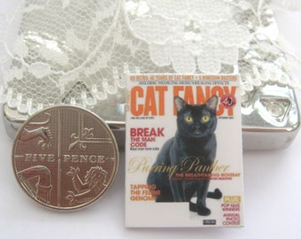 dollhouse magazine cat fancy   12th scale miniature