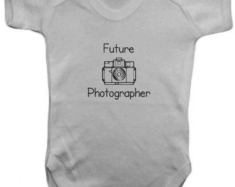 Future Photographer -Baby Bodysuit -  Vest,Baby Grow,,Baby One Piece,Baby Clothes,Bodysuit, baby onesie,100% Cotton - Silkscreen