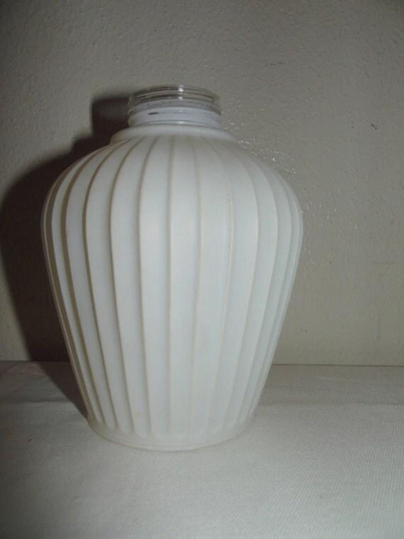 Vintage Mid Century White Pole Lamp Shade Globe By