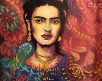Painting on wood- Frida Kahlo