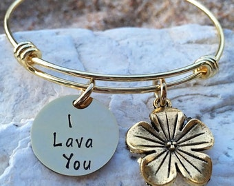 Inside Out - Disney - Disney Jewelry - Disney Bangle - Disney Bracelet - I Lava You - Disney Wedding - Bridesmaid - Disney Vacation