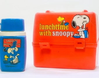 Vintage Peanuts Snoopy Lunchbox with Thermos